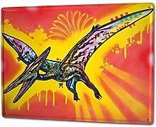 Blechschild XXL Küche Flugsaurier