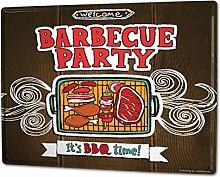 Blechschild XXL Küche Grill-Party