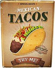 Blechschild XXL Küche mexikanische tacos