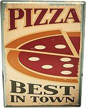 Blechschild XXL Küche Pizza
