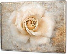 Blechschild XXL Küche Rose