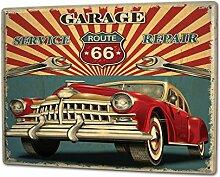 Blechschild XXL Nostalgie Auto Retro Autowerksta