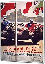 Blechschild XXL Nostalgie Auto Retro Grand Prix Nürburgring