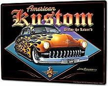 Blechschild XXL Nostalgie Auto Retro Tuning