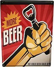 Blechschild XXL Nostalgie Bier Mehr Bier