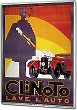 Blechschild XXL Oldtimer Auto Clinoto