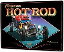 Blechschild XXL Oldtimer Auto hot Rod
