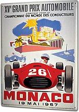 Blechschild XXL Oldtimer Auto Monaco Grandprix 1957