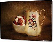 Blechschild XXL Retro Erdbeeren