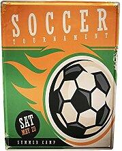 Blechschild XXL Retro Fußball