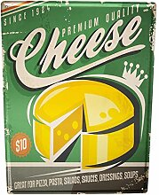 Blechschild XXL Retro Käse