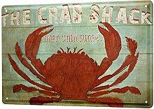 Blechschild XXL Retro Krabbe