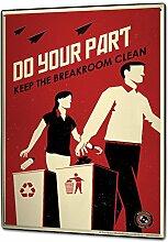 Blechschild XXL Retro Mülltrennung Mülleimer