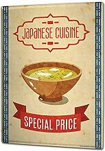 Blechschild XXL Retro Nostalgie Asien gebratener Reis