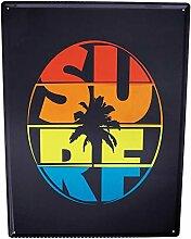 Blechschild XXL Retro Surf