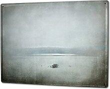 Blechschild XXL Retro Winter Nebel
