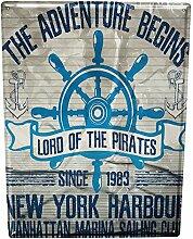 Blechschild XXL Schiffs Küche New York Hafen