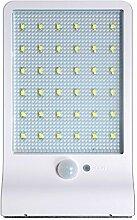 Blesiya 36LED Solarleuchte Sensor wandleuchte außen Waaserdicht Wegeleuchten Außenleuchte Solarlampe Wandampe für Flur, Wand, Garten, Zaun - Weiß ohne Stange