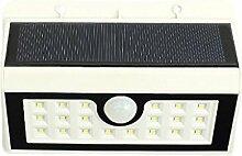 Blesiya Solarleuchte Sensor wandleuchte außen Waaserdicht Wegeleuchten Außenleuchte Solarlampe drahtlose Wandampe für Flur, Wand, Garten, Zaun - Weiß 20LED