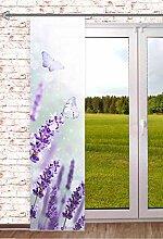 Blickdichte Schiebegardine Lavendel 60x245cm