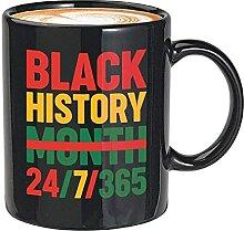 BLM Kaffeebecher - Black History Month 24/7/365 -