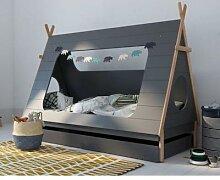 BLN Kids TIPI Kinderbett grau 90x200 cm / mit