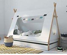 BLN Kids TIPI Kinderbett weiss 90x200 cm / ohne