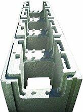 Block Recht solidbric grau 25kg