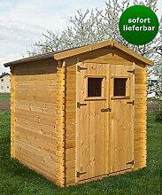 Blockbohlen Gartenhaus 19 mm Hannover - L180 x B180