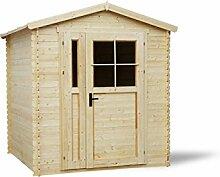 Blockbohlen Gartenhaus 19 mm - L: 200 cm x B: 200