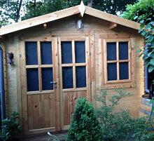 Blockbohlenhaus Gartenhaus Suffolk mit Boden 3x2m