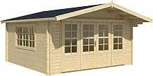 Blockhaus ATHEN 440 x 440cm Gartenhaus 58mm Holzhaus