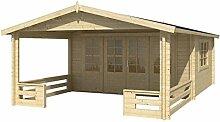 Blockhaus BELFAST 540 x 440cm + Veranda Gartenhaus 58mm Holzhaus