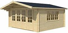 Blockhaus CARDIFF 540 x 540cm Gartenhaus 58mm Holzhaus