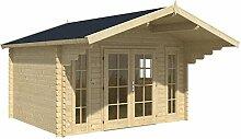 Blockhaus GRONINGEN 360 x 320cm Gartenhaus 45mm