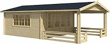 Blockhaus LINZ 540 x 540cm + Veranda Gartenhaus