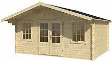 Blockhaus MALMÖ 500 x 380cm Gartenhaus 28mm Holzhaus