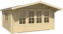 Blockhaus NEAPEL 440 x 340cm Gartenhaus 58mm