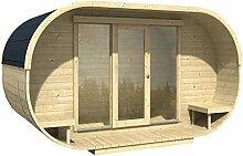 Blockhaus OVAL OFFICE 405 x 400cm Gartenhaus 28mm