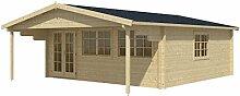 Blockhaus ROTTERDAM 595 x 595cm Gartenhaus 70mm Holzhaus