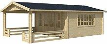 Blockhaus SALZBURG 440 x 340cm + Veranda Gartenhaus 58mm Holzhaus
