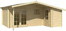 Blockhaus ZWOLLE 530 x 320 + 450cm Gartenhaus 45mm