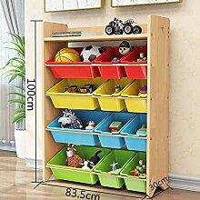 BLOIBFS Kind Aus Holz Spielzeugregal Einfache