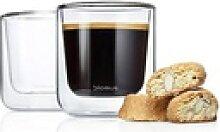 BLOMUS Glas Kaffee Thermo- Gläser, 2er Set, Glas