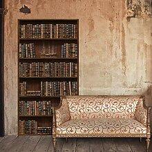 bloom Wandaufkleber Vintage Bücherregal