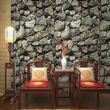 Blooming Mauer Stein Steine Tapete Natur für Wände Home Dekoration Tapete für Wohnzimmer Schlafzimmer, 57SQ. FT/Rolle