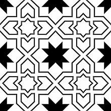 Blooming Wall: Elegante Mode-Tapete, geometrisches