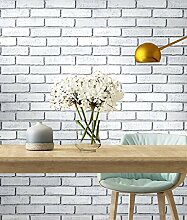 Blooming Wall Peel and Stick Removable White Brick