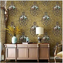 Blooming Wall Vintage Texturierte Damast-Tapete im