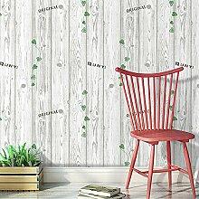Blooming Wand-Distressed Holzmaserung-Grün hinterlässt Abziehen und Aufkleben Wand Decor Tapete, Pink & Beige